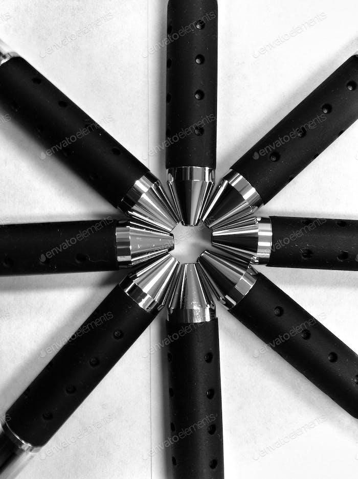 Interesting Shot Of Common Ink Pens