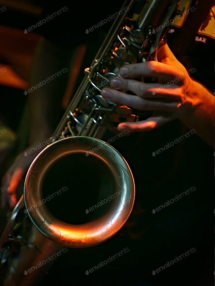 All That Jazz 1 - playing tenor saxophone in concert
