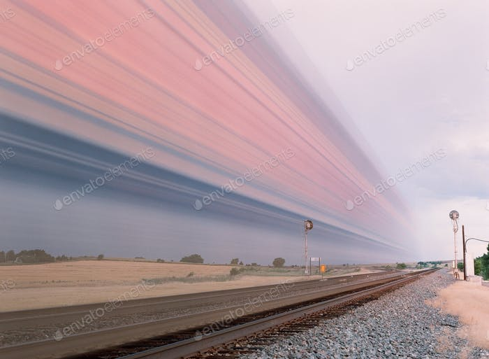 SET MY CAMERA ON THE TRIPOD WHILE THE TRAIN PAST