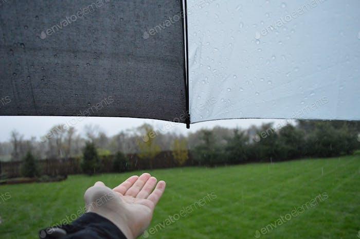 Regentropfen fangen