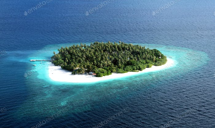 Maldives islands from above