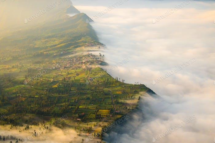 The fog - shot it near to mountain Bromo / Indonesia (East Jawa)