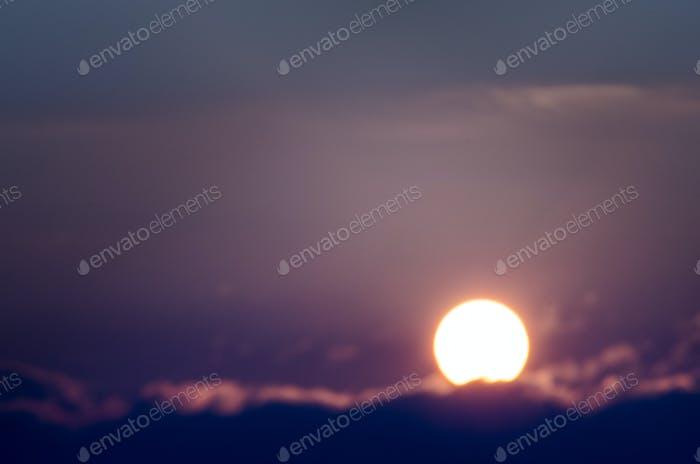 Sunrise over Madison, Wisconsin.