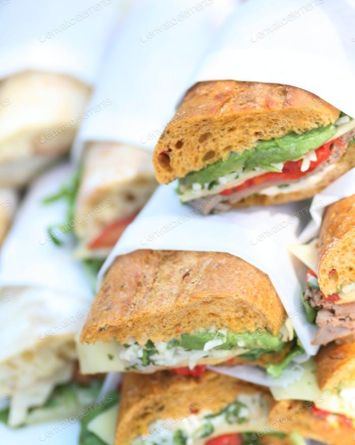 High resolution photo of general deli sandwiches