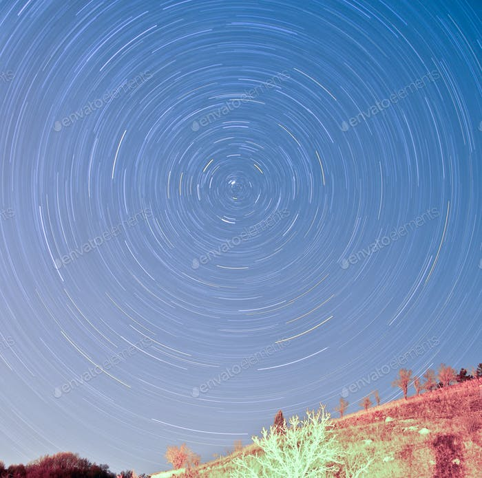 Earth rotation by 5512 seconds