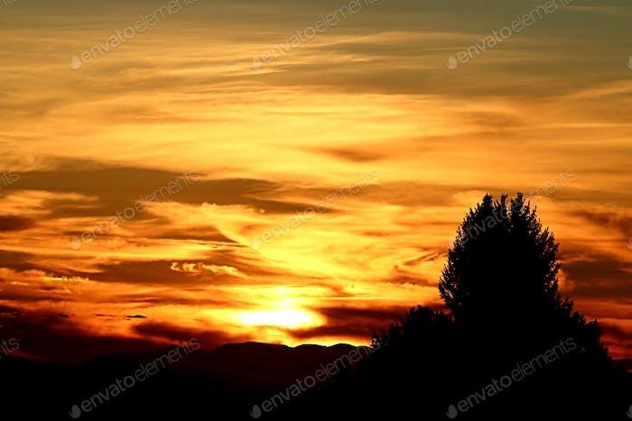 Sonnenuntergang Wirbel
