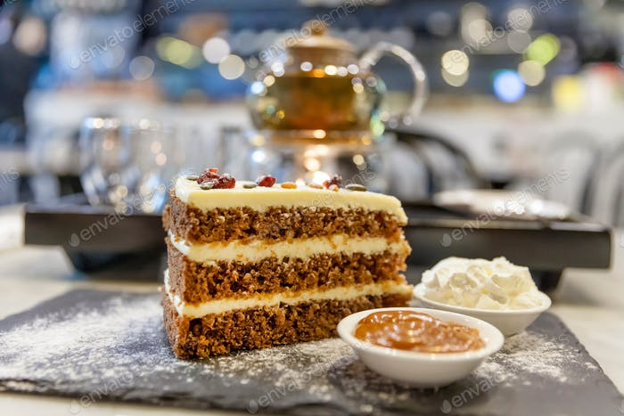Delicious carrot cake piece (nominated on Mar 1)