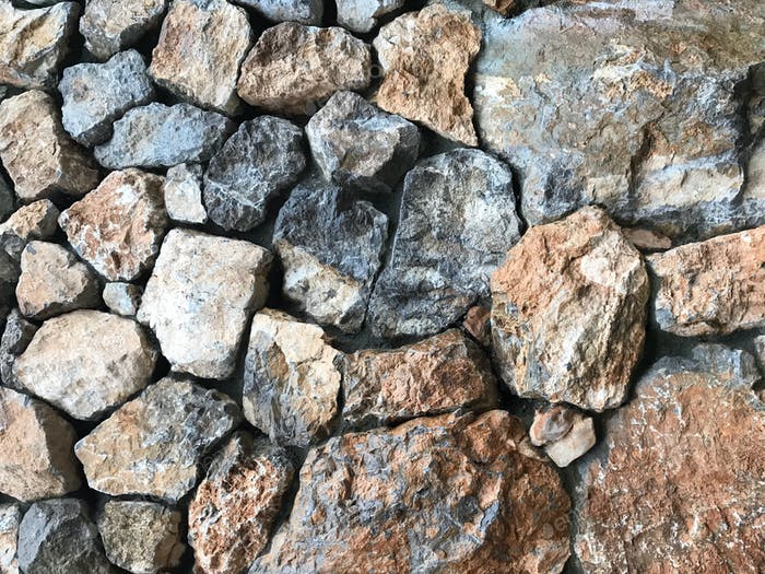 rubble wall, stone texture, rubble wall background