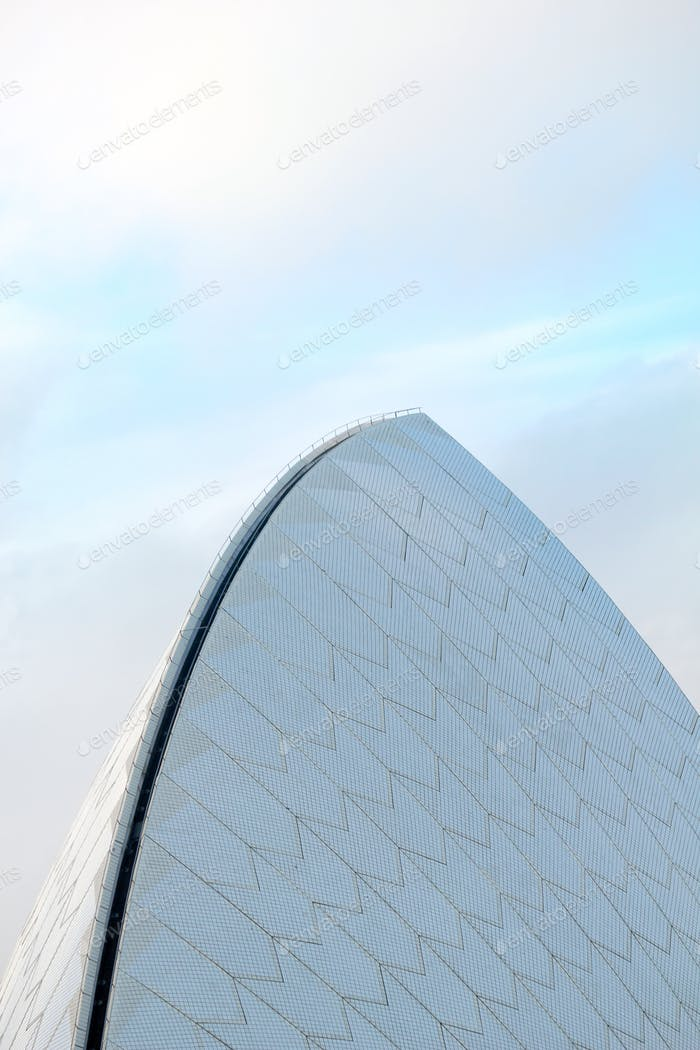 The famous arched roofline of the Sydney Opera House, Australia