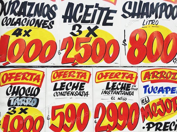 Venta de letreros en Santiago Chile