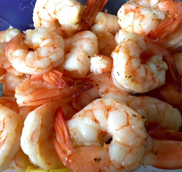 Shrimp, steamed and seasoned.  So yummy