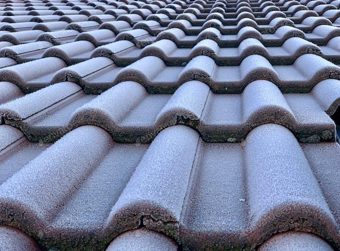 Roof Tiles in winter