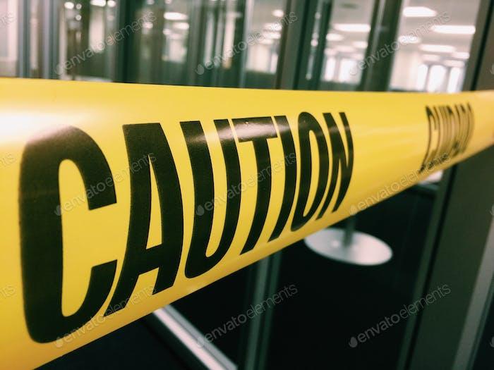 Caution tape do not cross