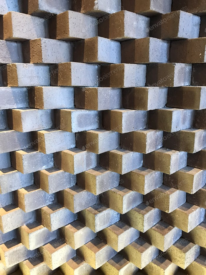 Rectangular boxes forming a pattern of form and light