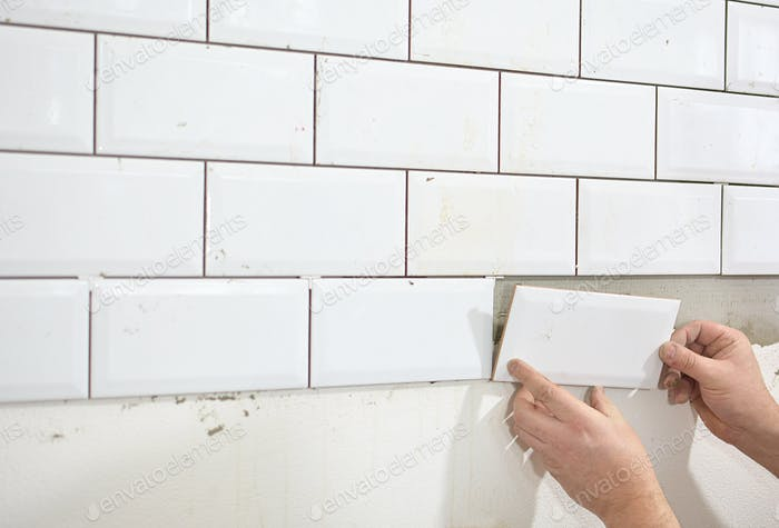 tiling the tiles in the kitchen