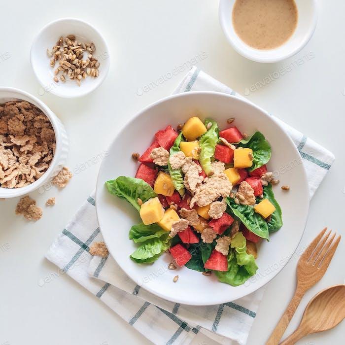 Healthy colorful salad.