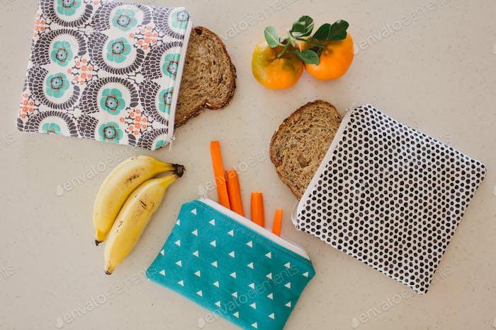 Reusable bags snacks