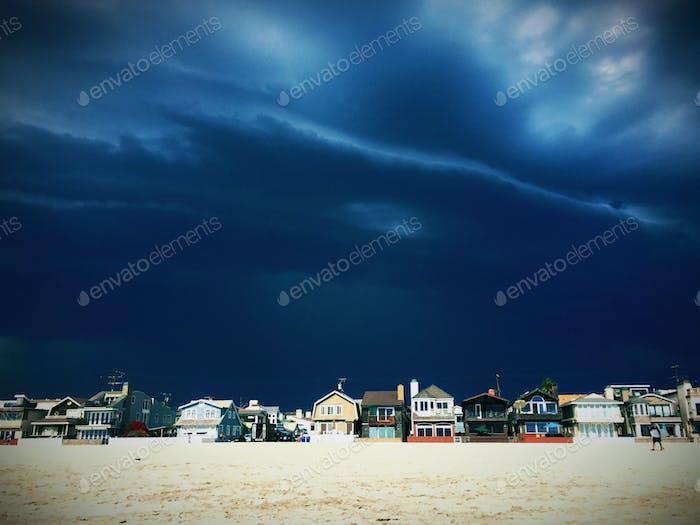 Storm approaching Newport Beach