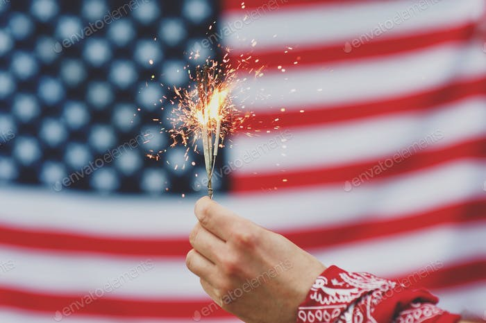 american independence day usa flag fireworks patriot