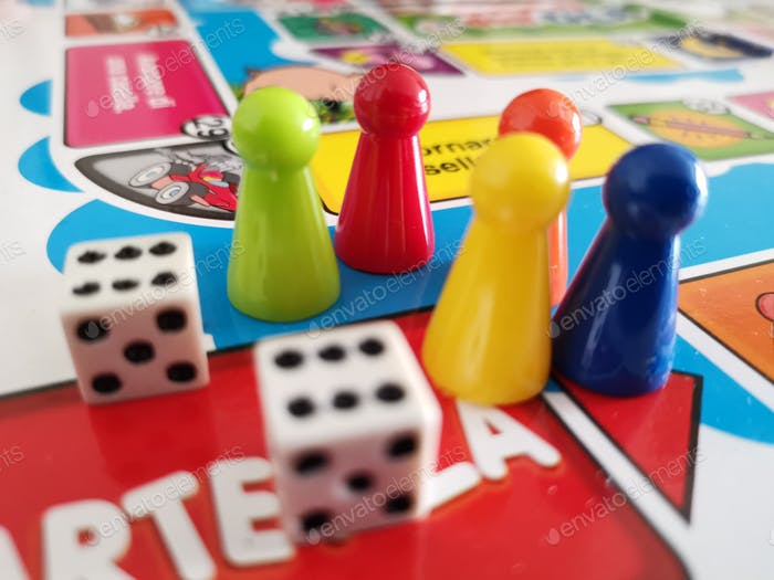 board game with dices