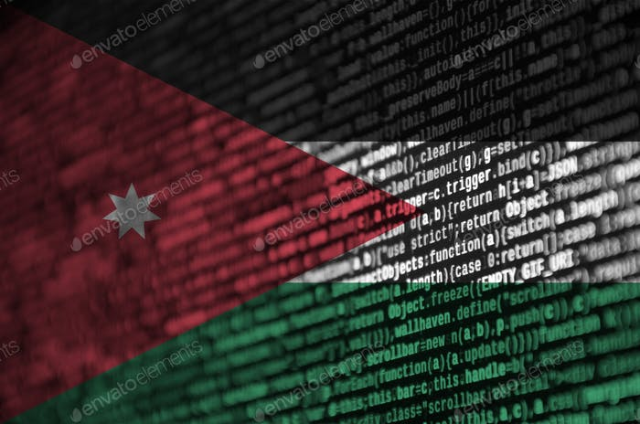 Jordan flag  is depicted on the screen with the program code