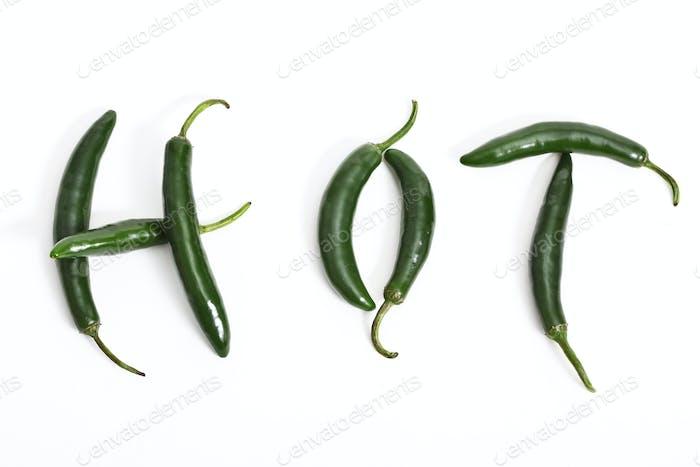 Grüne Serrano Paprika
