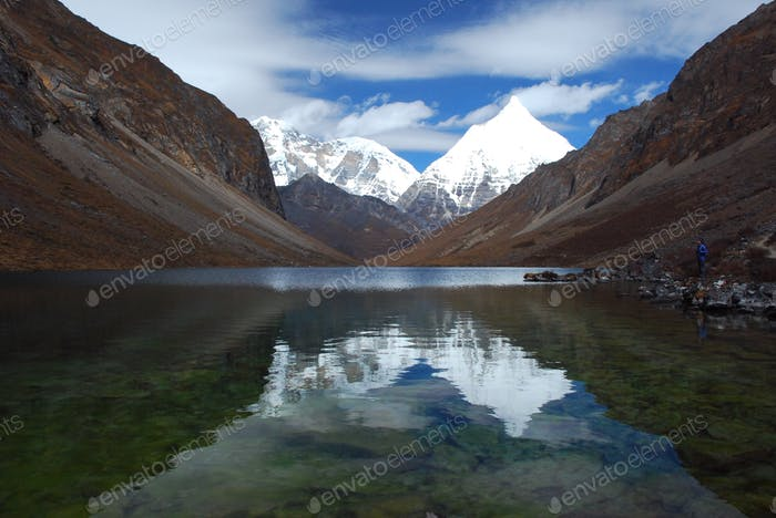 Lake Reflections Bhutan
