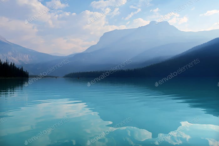 The bluest water of Emerald Lake
