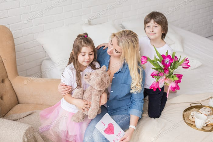 Mother day, mother, child, childhood, gift, happy,