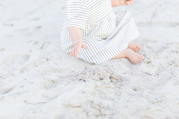 Baby toes in the sand