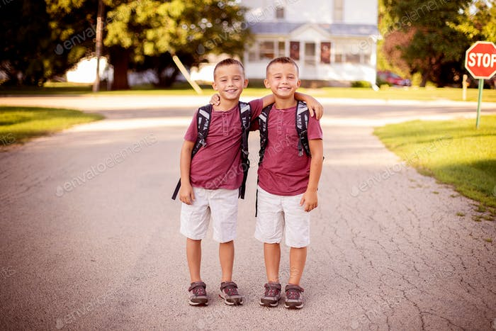 First day of school together in 2nd grade