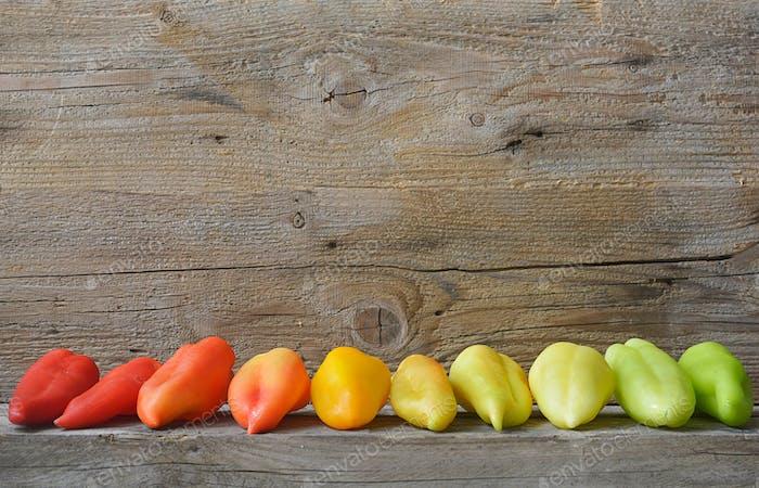 color spectrum of pepper