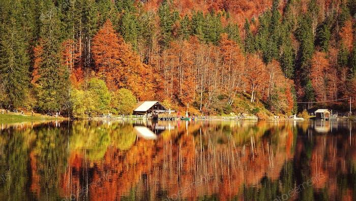 Autumn vibes at Laghi di Fusine, Friuli Venezia Giulia - Italy