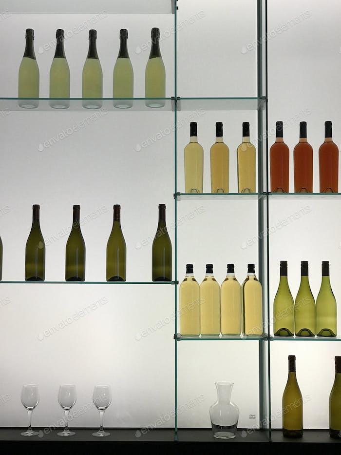 Flaschen-display
