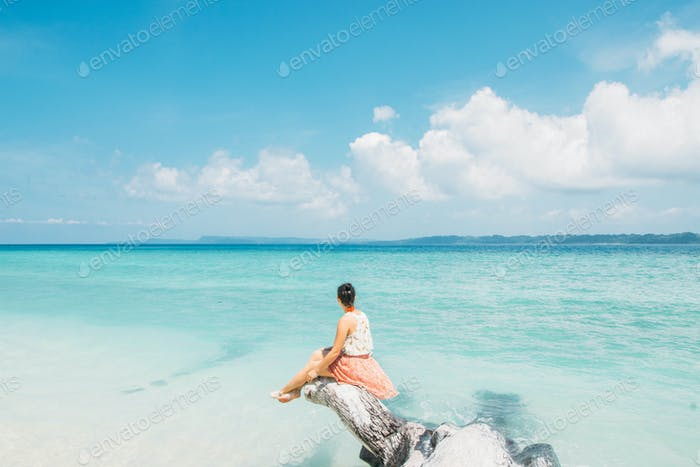 Summer style in Andaman Islands (India)