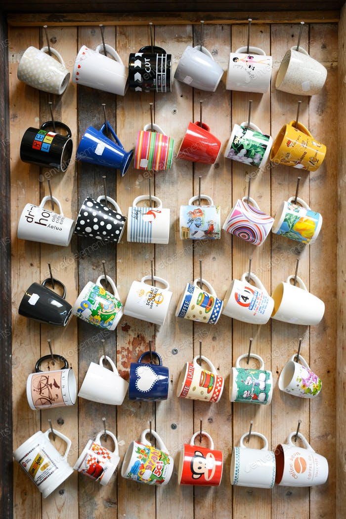 Hanging second-hand mugs for sale  * Nominated! *