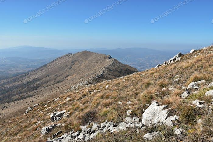 Scenic view of mountain ridge