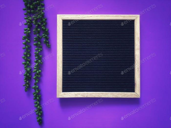 Blank black message board