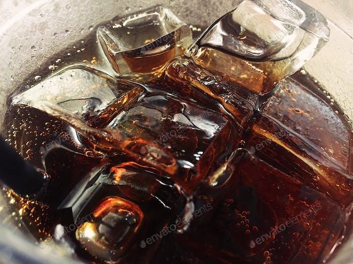 Ice and Coca Cola