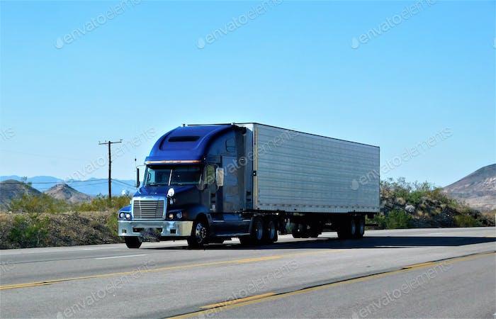 Trucking! Blue Big Rig!  NOMINATED!!