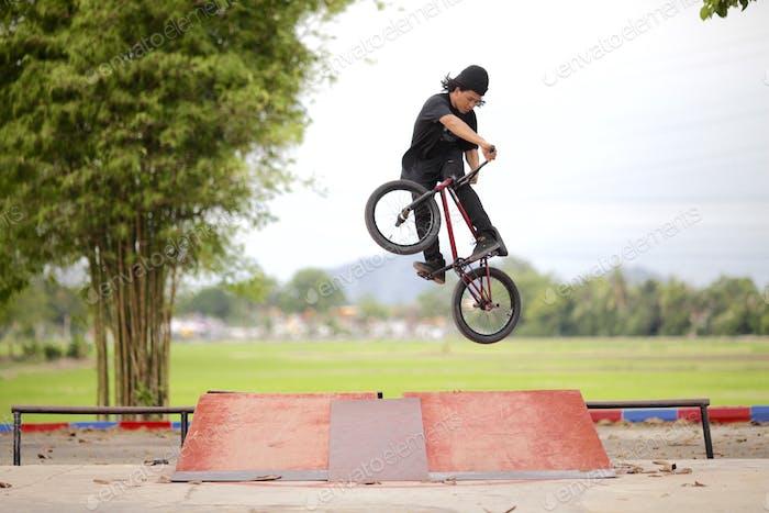 Extreme skill BMX