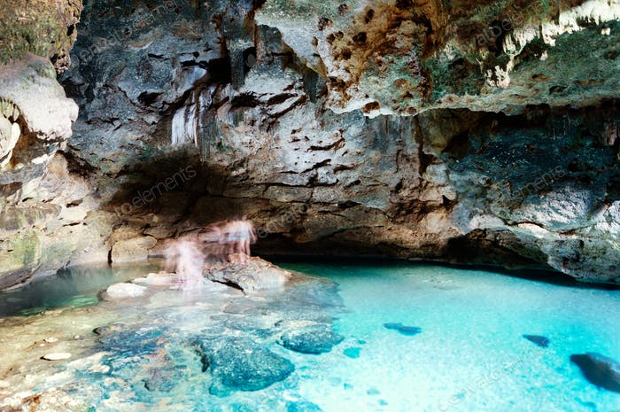 Cenote in the Mayan Riviera