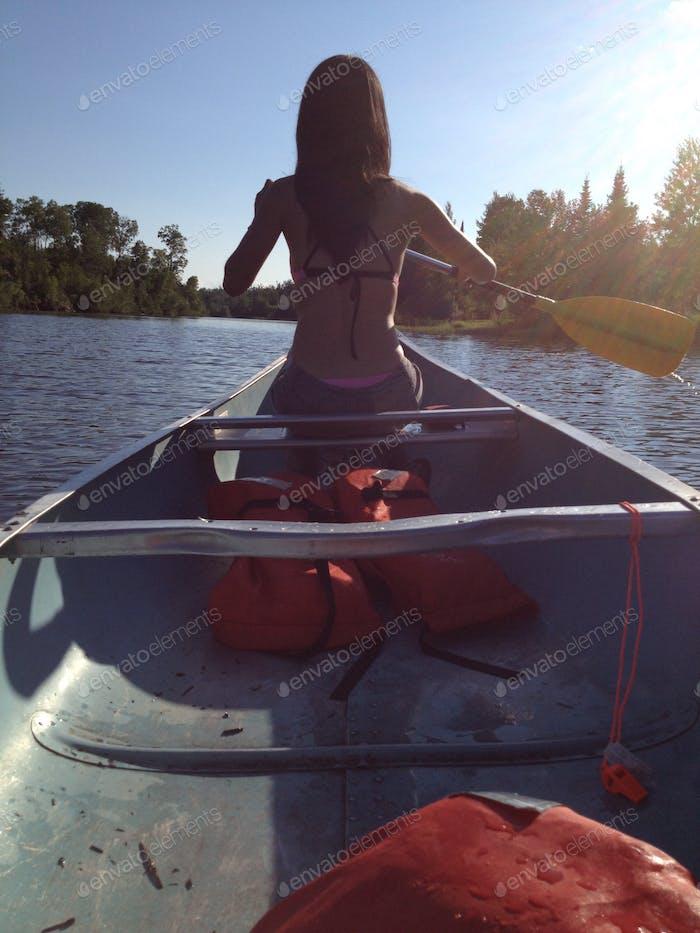 Canoeing in northern Minnesota.