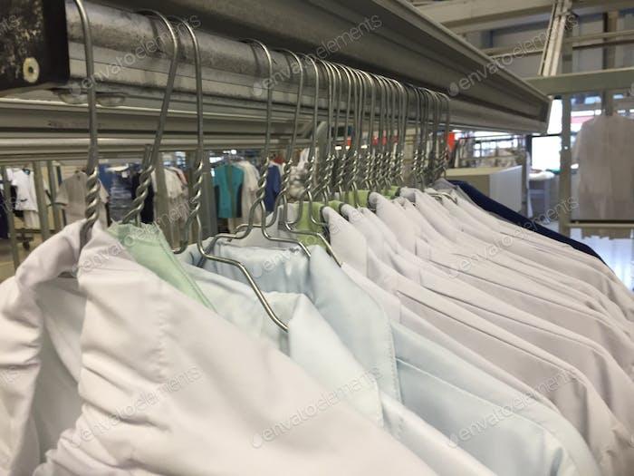 Dokters , nurses uniform laundry carroussel