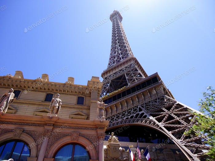 The Eiffel Tower at the Paris hotel in Las Vegas, NV