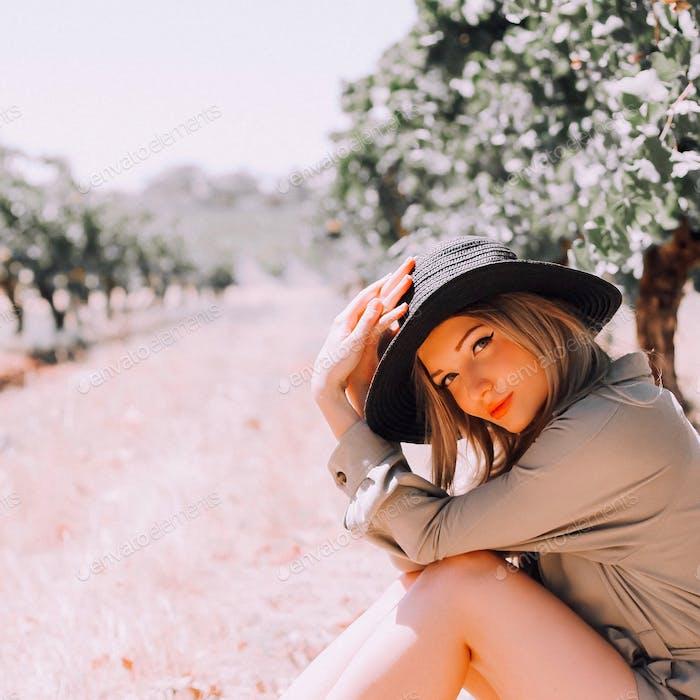 Girl in winery