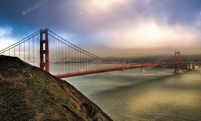 Golden Gate Bridge facing Southeast.