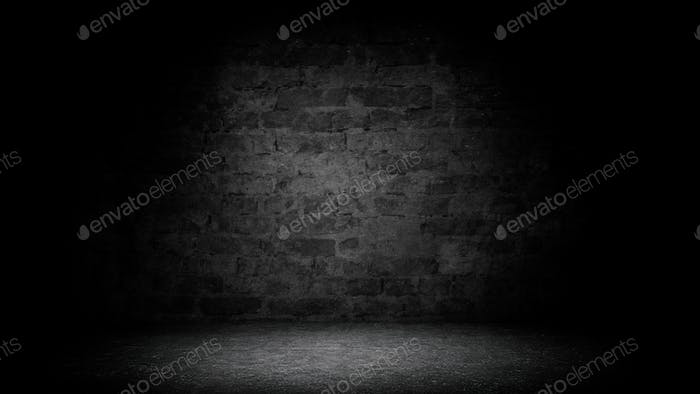 Abstract black brick with vignette background
