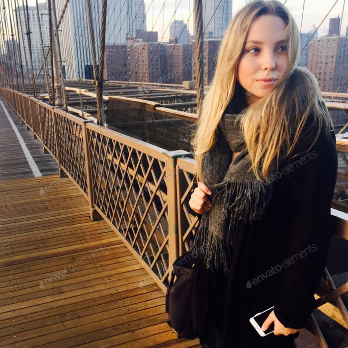 My girl and The Brooklyn Bridge