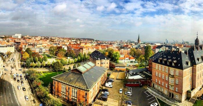 Cityscape in Aarhus, Denmark